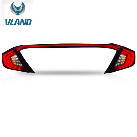VLAND TAIL LIGHT ASSEMBLY FIT FOR 2016-2017 Honda Civic, Two Colors - VLAND