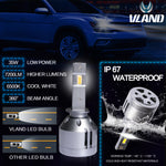 VLAND LED Headlight Bulbs H1 , 1 pair - VLAND