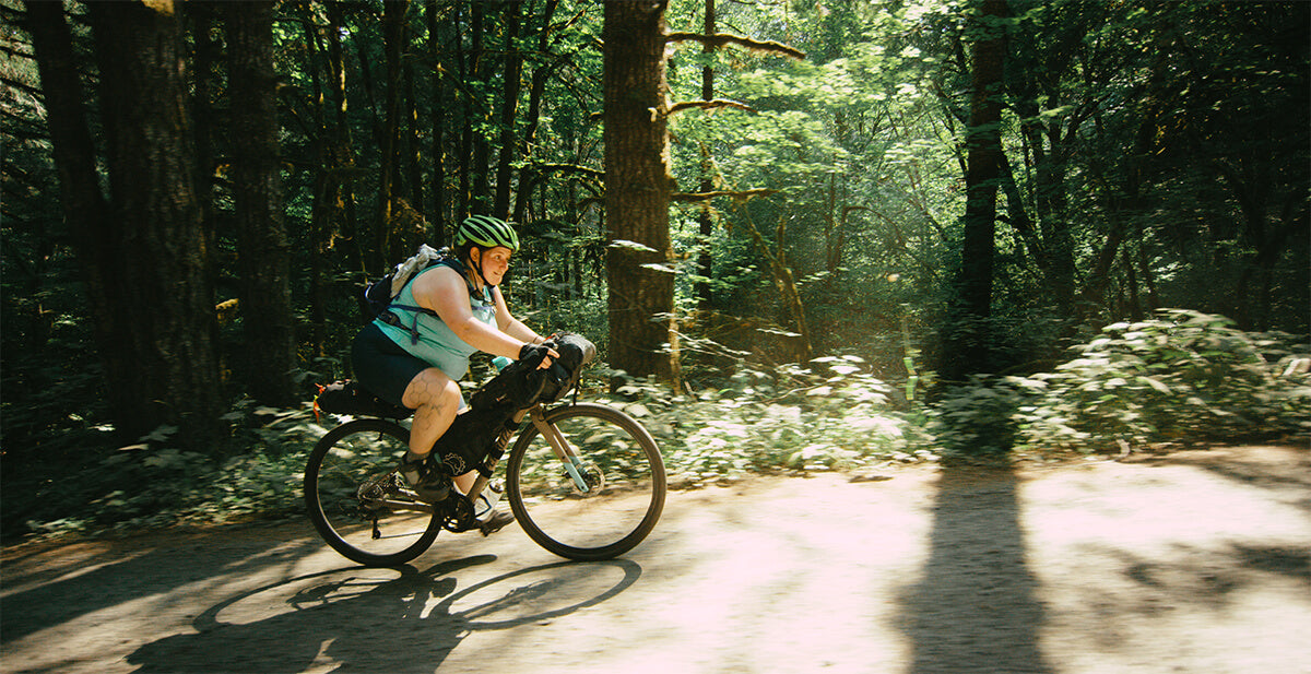 """Kailey Kornhauser riding her Specialized Diverge Gravel bike in the Shimano Originals """"All Bodies on Bikes"""""""