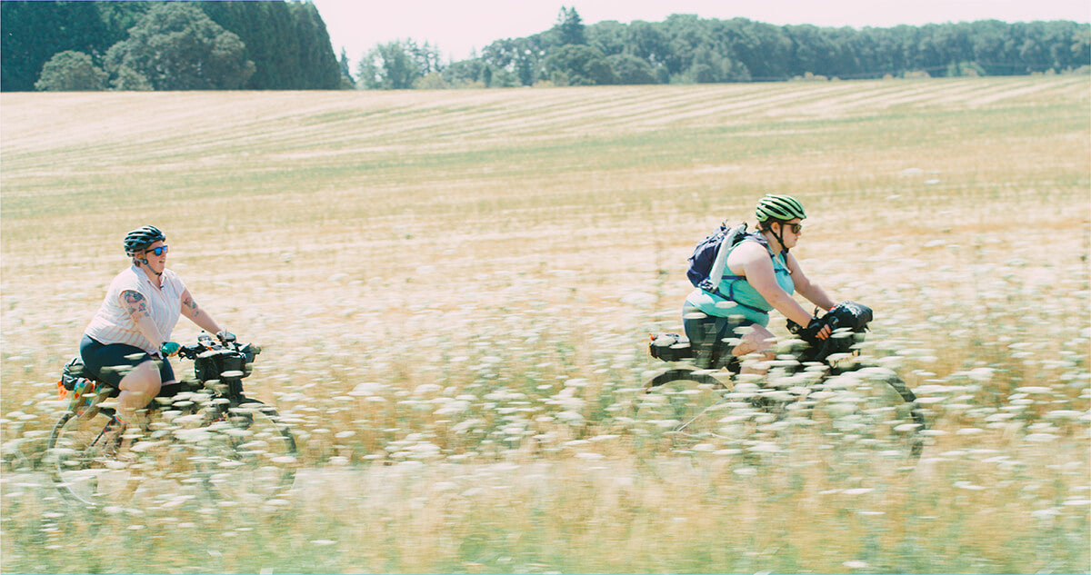 """Kailey and Marley Bikepacking in the Shimano Original """" All Bodies on Bikes"""""""
