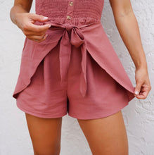 Load image into Gallery viewer, Mauve Front Tie Romper
