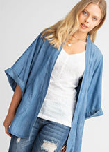 Load image into Gallery viewer, Denim Linen Cardigan