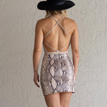 Load image into Gallery viewer, Snake Skin Mini Skirt