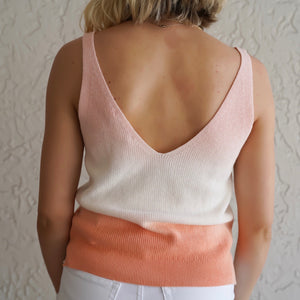 Pink Ombre Sweater Knit Tank