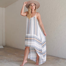 Load image into Gallery viewer, Striped Hi Low Maxi Dress