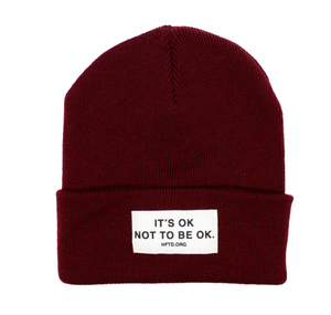 IT'S OK Red Beanie