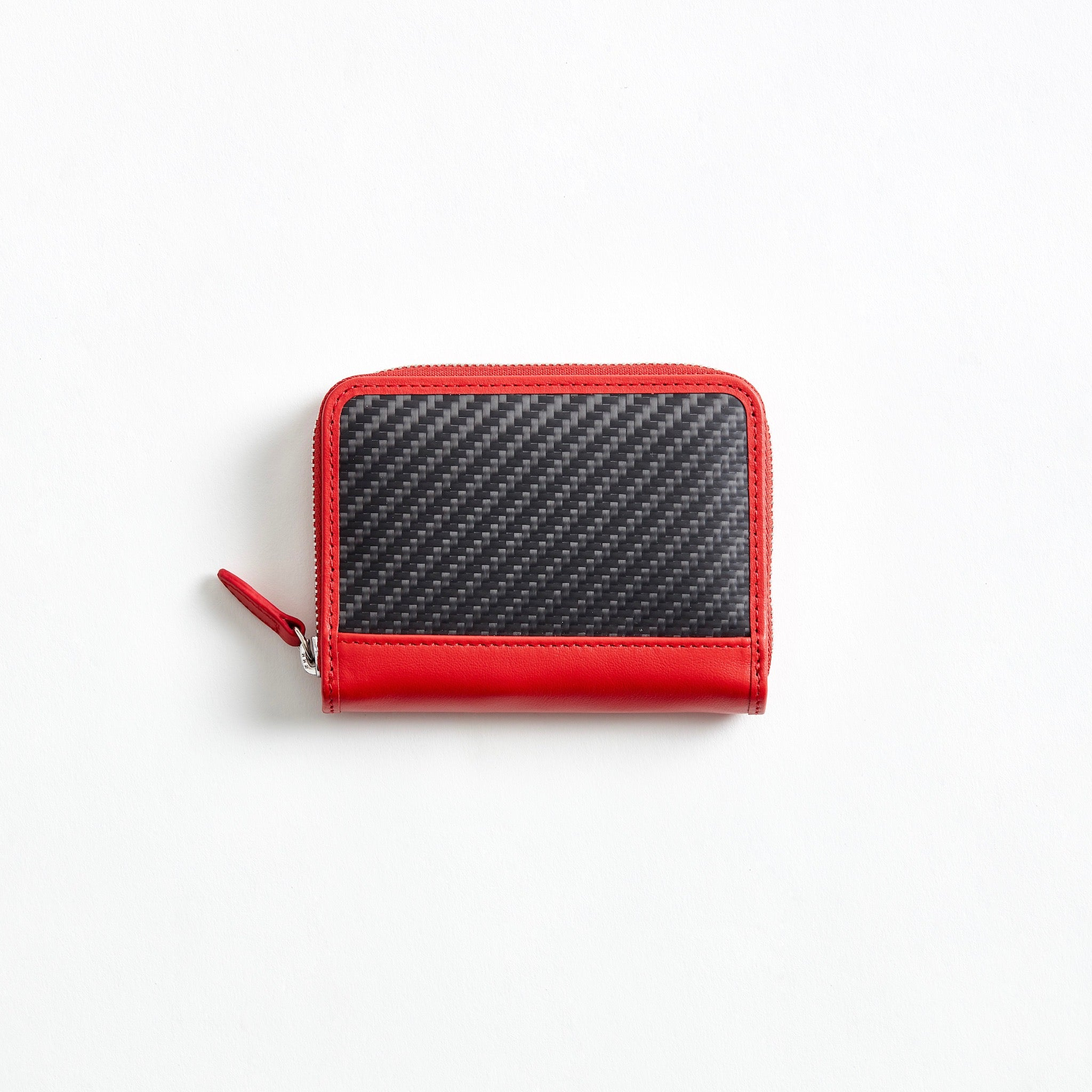 mini round zip wallet