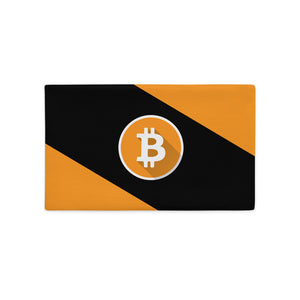 Premium Bitcoin Pillow Case