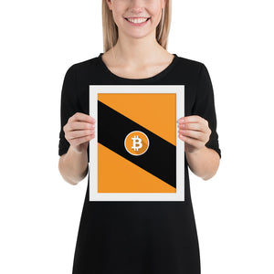Framed Bitcoin Poster