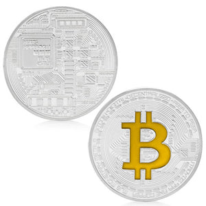 Gold Plated Bitcoin Commemorative Coin