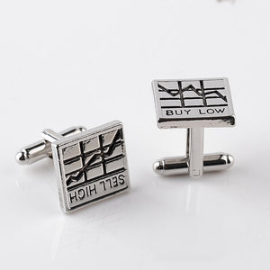 Buy Low Sell High French Cufflinks