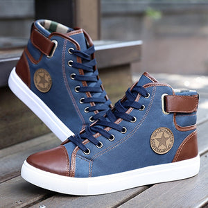 Men Lace-Up Leather Boots