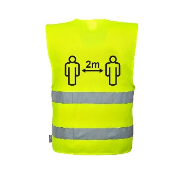 Hi-Vis Social Distancing Vest 2m (Unit price €3.80 - Sold Box 10 Vests)