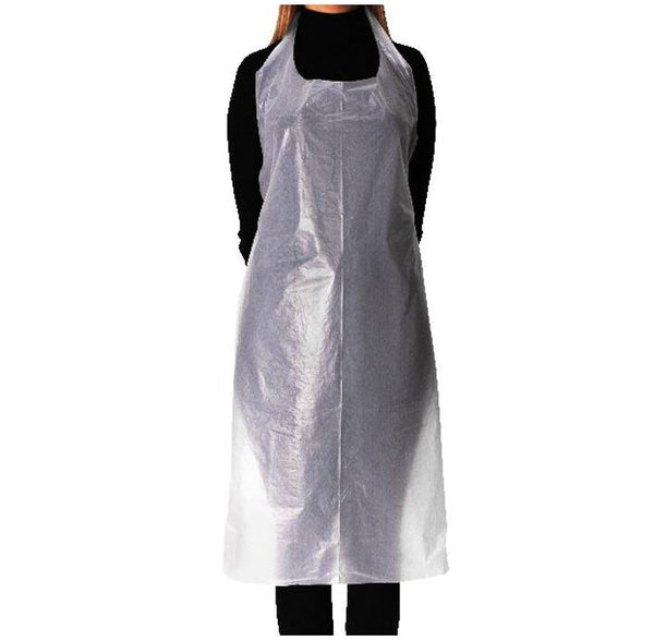 Disposable White PE Aprons | Pack of 100