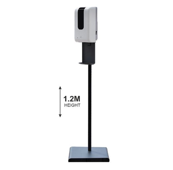 Floor Standing Automatic Hand Sanitising Dispenser Black 1000ml