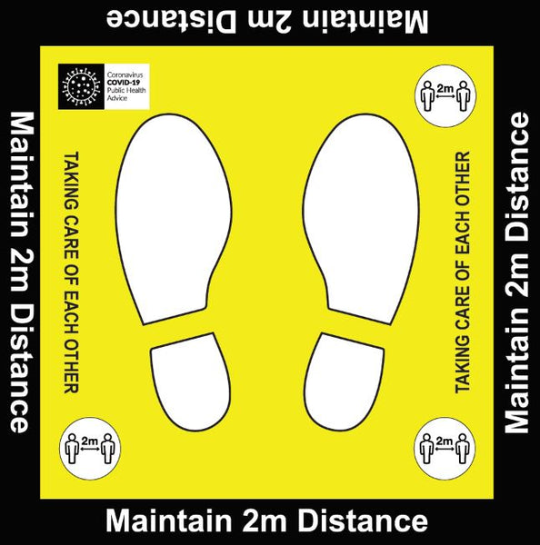 Removable Anti Slip Sign 400mm X 400mm Pack of 2