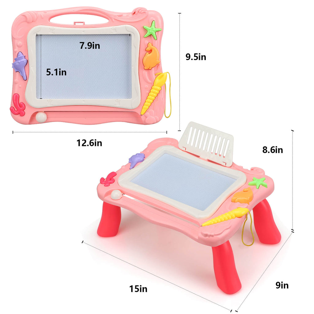 2 in 1 Block Activity Table & Magnetic Drawing Boards