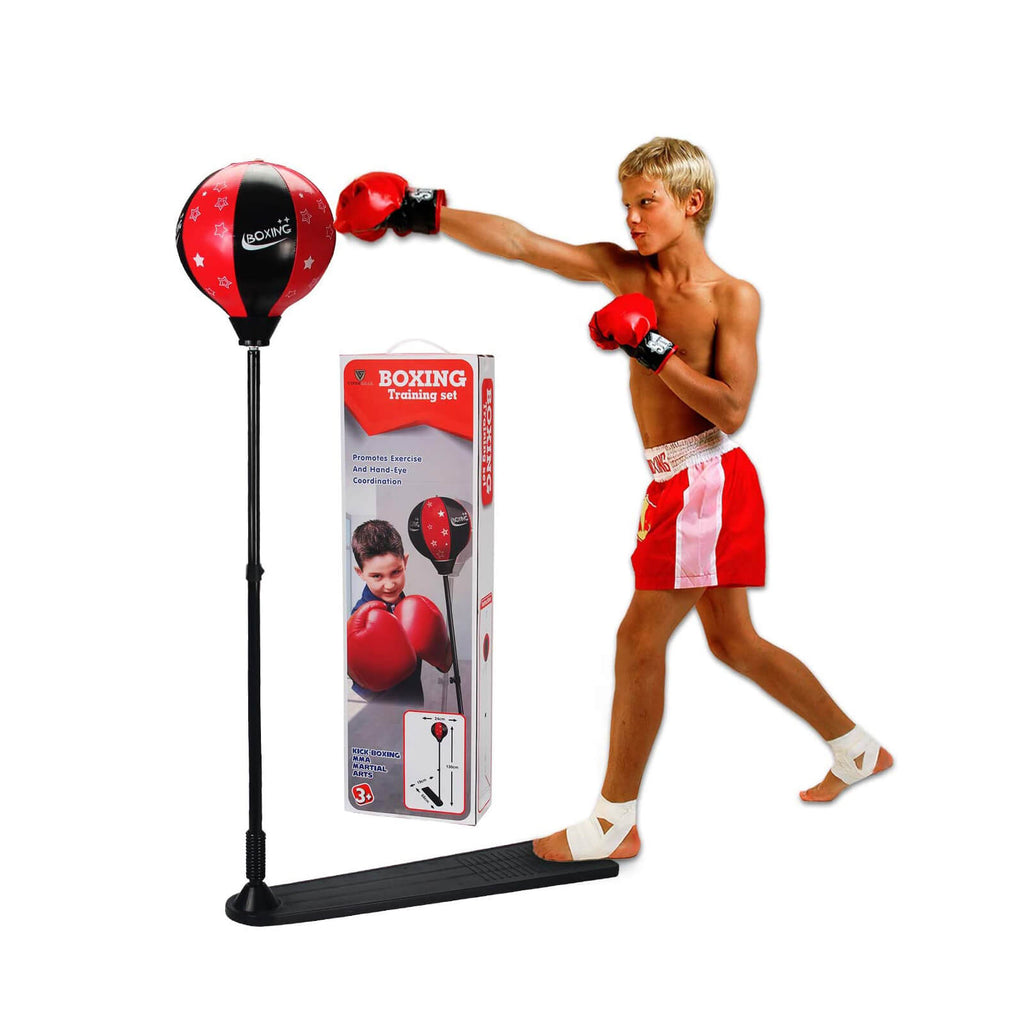 Punching Bag & Boxing Gloves Set