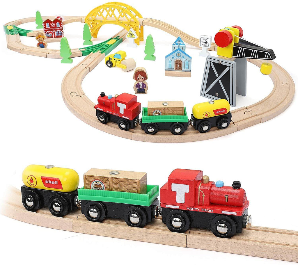 Wooden Track & Train Pack