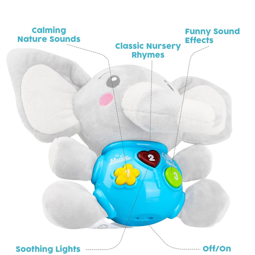 Plush Elephant Toddler Toys - Baby Musical Toy