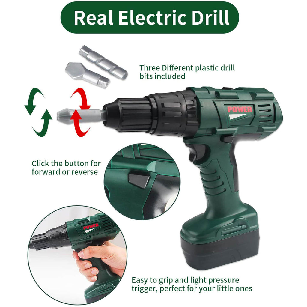 Kids Tool Set with Power Toy Drill