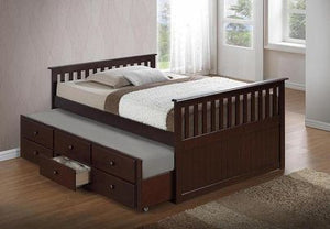 HAILEY- DOUBLE OVER DOUBLE TRUNDLE BED WITH DRAWERS