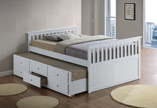 Load image into Gallery viewer, HAILEY- DOUBLE OVER DOUBLE TRUNDLE BED WITH DRAWERS