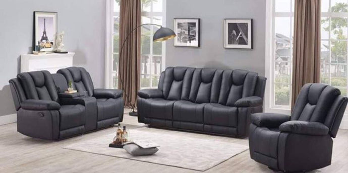 HALIFAX - 3 PC RECLINER SET WITH CONSOLE
