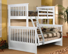 Load image into Gallery viewer, ELLIOT BUNK BED - SINGLE OVER DOUBLE SOLID WOOD (White, Espresso)