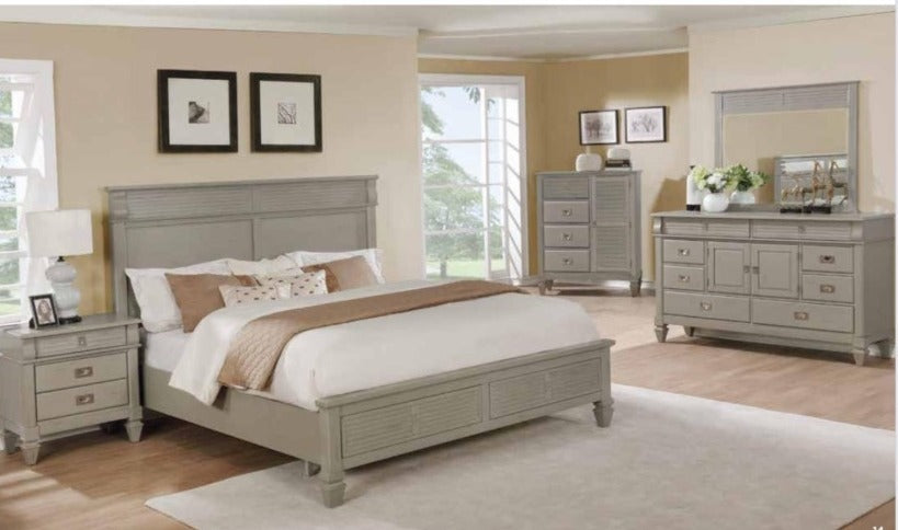 SCARBOURG - MODERN 8 PC BEDROOM SET WITH STORAGE IN BED