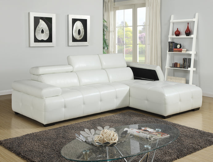 RIO - SECTIONAL WITH ADJUSTABLE HEADREST AND ARM REST STORAGE
