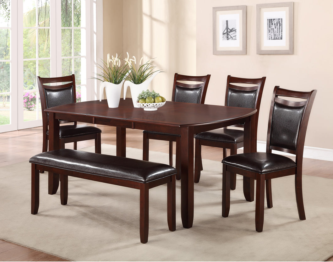NAV DINING SET WITH LEAF AND BENCH - 6 PC