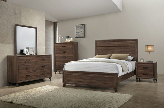 WENDY - BEDROOM SET WITH SOLID WOOD - 8 PC