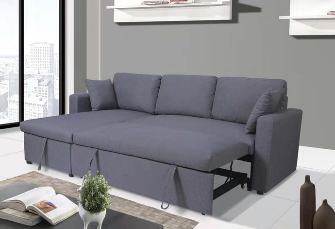 CINDY - SOFA BED SECTIONAL WITH STORAGE CHAISE