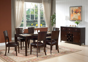 METRO - DINING SET WITH SLICK DESIGN (7 PC)