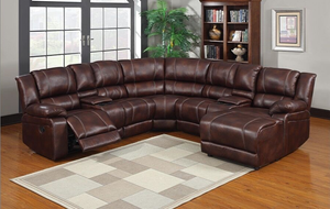 OZIO - AIR LEATHER CORNER RECLINER SECTIONAL