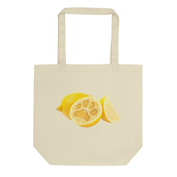 Lemon Pawprint / Pitcher Eco Tote