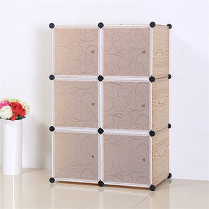 6 Cube Cabinet - Wooden Texture