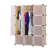Load image into Gallery viewer, 12 cube Plastic Brown Wardrobe
