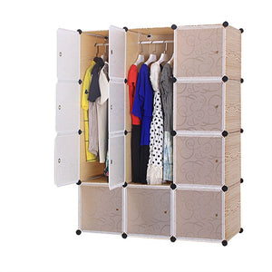 12 cube Plastic Brown Wardrobe