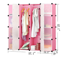 Load image into Gallery viewer, 16 cube Pink Plastic Wardrobe