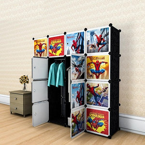 Diy 16 Cube Cabinet - Spiderman