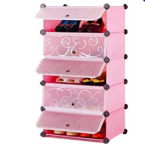 5 layer Plastic shoes rack organizer