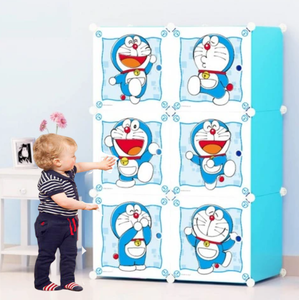 6 cube Kids Plastic Wardrobe with Hanging