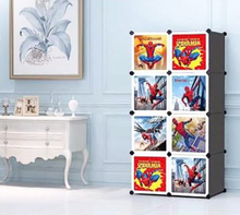 Load image into Gallery viewer, 8 Cube Cabinet with Hanging- Spiderman
