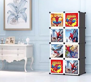 8 Cube Cabinet with Hanging- Spiderman