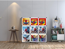 Load image into Gallery viewer, 9 Cube Cabinet with Hanging - Spiderman