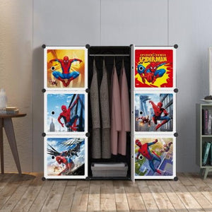 9 Cube Cabinet with Hanging - Spiderman