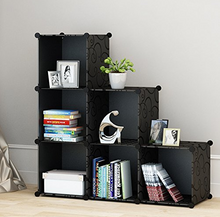 Load image into Gallery viewer, 6 Cube DIY Organizers- Black