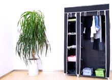 Load image into Gallery viewer, Black & White Double Sided Fabric Wardrobe